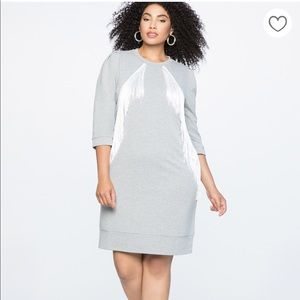 NWT Fringe Sweatshirt Shift Dress